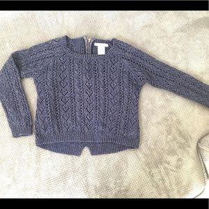 Girls Max Studio navy blue sweater